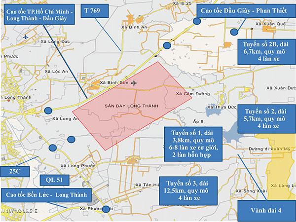 Sớm công bố quy hoạch đường vào sân bay Long Thành
